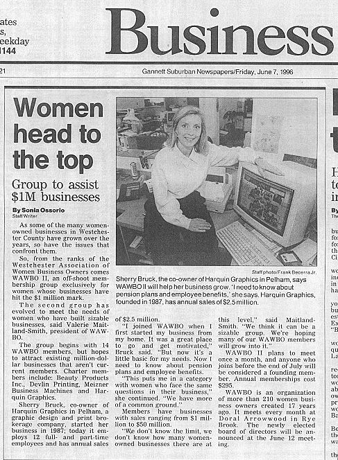 """Women Head to the Top"" article - Sherry Bruck pictured"